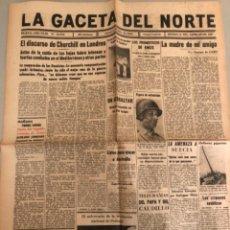 Coleccionismo de Revistas y Periódicos: LA GACETA DEL NORTE, N 13.076 ,1943 VIERNES 2 DE JULIO ,BILBAO,SEGUNDA GUERRA MUNDIAL. Lote 235904220