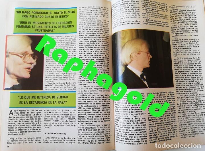 Coleccionismo de Revistas y Periódicos: Revista EL INDISCRETO SEMANAL 23 Jose Sacristan Maria Luisa San Jose Eva Leon Agata Lys Andy Warhol - Foto 7 - 235904550