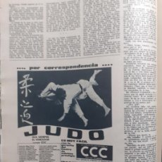 Coleccionismo de Revistas y Periódicos: ANUNCIO JUDO. Lote 236053665