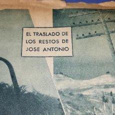 Coleccionismo de Revistas y Periódicos: COMITIVA DEL TRASLADO DE JOSE ANTONIO POR ARANJUEZ (2 HOJAS) AÑO 1939 ABC. Lote 236225785