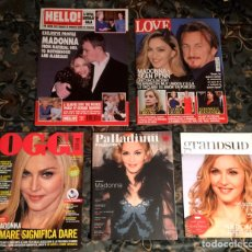 Coleccionismo de Revistas y Periódicos: MADONNA LOTE COLECCIÓN DE 5 REVISTAS NUEVAS. Lote 236227315