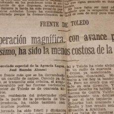 Coleccionismo de Revistas y Periódicos: RECORTE DEL HERALDO DE ARAGON GUERRA CIVIL VARIOS ARTICULOS Y ESQUELAS.FRENTE DE TOLEDO..VER FOTOS. Lote 236227935