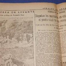 Coleccionismo de Revistas y Periódicos: HERALDO DE ARAGON 193 GUERRA EN LEVANTE,CONQUISTA DE LA MUELA,COMO MURIO OBISPO GUERRA CIVIL. Lote 236244480