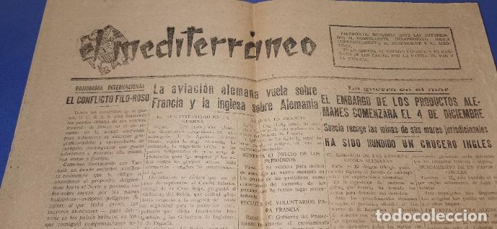 Coleccionismo de Revistas y Periódicos: Diario Mediterraneo(Guerra Civil) Restos Jose Antonio llegan Escorial, Castellón al día ,ver fotos - Foto 4 - 236247320