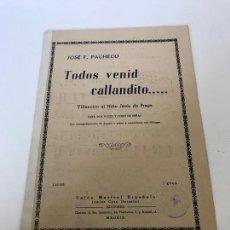 Coleccionismo de Revistas y Periódicos: TODOS VENID CALLANDITO. Lote 236276480