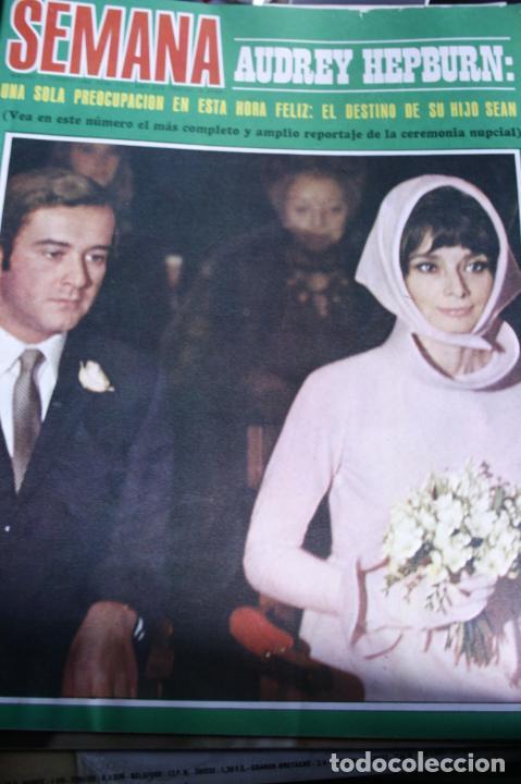 AUDREY HEPBURN SOFIA LOREN DUO DINAMICO ALAIN DELON MARISOL SARA MONTIEL MARIA MAHOR 1969 (Coleccionismo - Revistas y Periódicos Modernos (a partir de 1.940) - Otros)