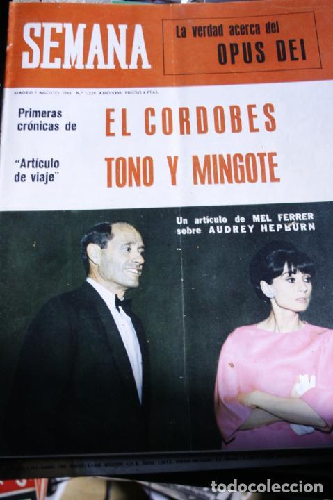 AUDREY HEPBURN MEL FERRER EL CORDOBES BEATLES MARISOL AURORA BAUTISTA 1965 (Coleccionismo - Revistas y Periódicos Modernos (a partir de 1.940) - Otros)