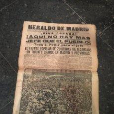 Coleccionismo de Revistas y Periódicos: REPUBLICA - HERALDO DE MADRID 18 FEBRERO 1936 ¡VIVA ESPAÑA! AQUI NO HAY MAS JEFE QUE EL PUEBLO EL FR. Lote 236610165
