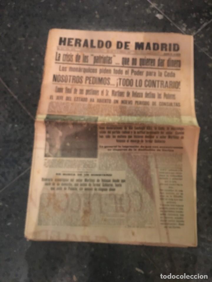 REPUBLICA - HERALDO DE MADRID 11 DICIEMBRE 1935 LA CRISIS DE LOS PATRIOTAS .. QUE NO QUIEREN DAR DIN (Coleccionismo - Revistas y Periódicos Antiguos (hasta 1.939))