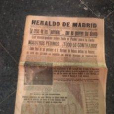 Coleccionismo de Revistas y Periódicos: REPUBLICA - HERALDO DE MADRID 11 DICIEMBRE 1935 LA CRISIS DE LOS PATRIOTAS .. QUE NO QUIEREN DAR DIN. Lote 236613465