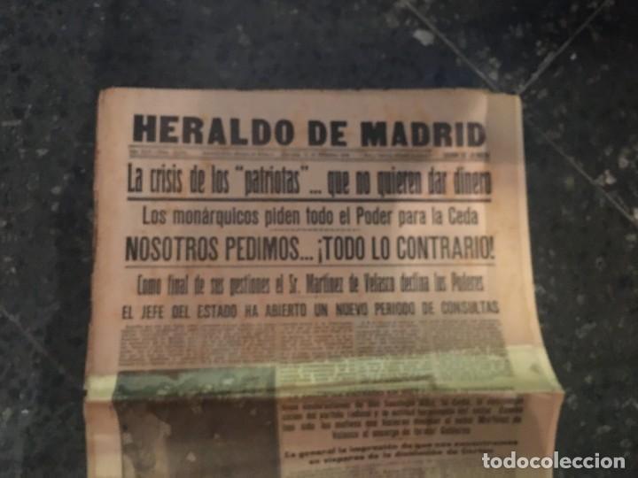 Coleccionismo de Revistas y Periódicos: REPUBLICA - HERALDO DE MADRID 11 DICIEMBRE 1935 LA CRISIS DE LOS PATRIOTAS .. QUE NO QUIEREN DAR DIN - Foto 2 - 236613465