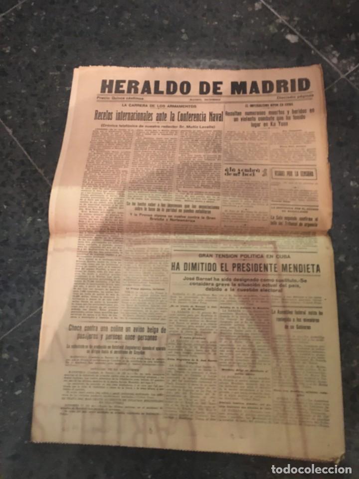 Coleccionismo de Revistas y Periódicos: REPUBLICA - HERALDO DE MADRID 11 DICIEMBRE 1935 LA CRISIS DE LOS PATRIOTAS .. QUE NO QUIEREN DAR DIN - Foto 3 - 236613465