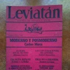 Coleccionismo de Revistas y Periódicos: LEVIATAN. REVISTA DE HECHOS E IDEAS. NUM 19. ALFONSO GUERRA. JOAQUIN LEGUINA. Lote 236790670