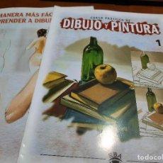 Coleccionismo de Revistas y Periódicos: CURSO PRÁCTICO DE DIBUJO Y PINTURA. FASCÍCULO 1 + MECHANDISING COLECCIÓN. GRAPA. BUEN ESTADO. Lote 237015385