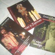 Coleccionismo de Revistas y Periódicos: LOTE 3 REVISTA ROSAS Y ESPINAS Nº 7 9 10, COFRADÍA CRISTO DE LA VICTORIA 2016-2019 CÁCERES. Lote 237019145