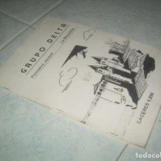 Coleccionismo de Revistas y Periódicos: FANZINE GRUPO DELTA Nº 9, PERIÓDICO JUVENIL LA MEJOSTILLA, CÁCERES 1996. Lote 237020400