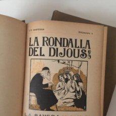 Coleccionismo de Revistas y Periódicos: REVISTA LA RONDALLA DEL DIJOUS, 1909, 2 TOMOS, L'AVENÇ, BARCELONA. 19X14,5CM. Lote 237074785