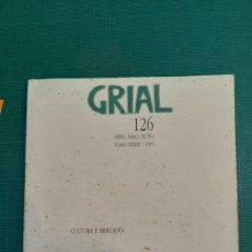 Coleccionismo de Revistas y Periódicos: 1995 REVISTA GRIAL 126 GALICIA LIBRERIA VINTAGE O ALMACÉN DO COLISEVM COLECCIONISMO ANTIGÜEDADES. Lote 237171470