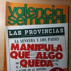 Coleccionismo de Revistas y Periódicos: REVISTA POLÍTICA HUMOR VALENCIA SEMANAL NÚMERO 39. SEPTIEMBRE 1978. Lote 237205025