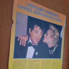Coleccionismo de Revistas y Periódicos: SYLVESTER STALLONE. 1 HOJA. ARTÍCULO SOBRE EL ACTOR. EXTRAIDO DE REVISTA. BUEN ESTADO. DIFICIL. Lote 237299685