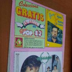 Coleccionismo de Revistas y Periódicos: MECANO. LETRA DE UN TEMA. + CHICHO IBAÑEZ SERRADOR. EXTRAIDO DE REVISTA. BUEN ESTADO. DIFICIL. Lote 237300545