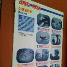 Coleccionismo de Revistas y Periódicos: MADONNA. CHERISH. VIDEO CLIPS. 2 HOJAS. EXTRAIDO DE REVISTA. BUEN ESTADO. DIFICIL. Lote 237300765