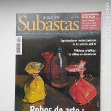 Coleccionismo de Revistas y Periódicos: REVISTA SUBASTAS SIGLO XXI. Nº 21. AÑO 2. OCTUBRE 2001. VIDRIERAS ARTISTICAS. TDKC103. Lote 237586860
