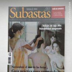 Coleccionismo de Revistas y Periódicos: REVISTA SUBASTAS SIGLO XXI. Nº 66. AÑO 6. NOVIEMBRE 2005. RELOJES DE CAJA ALTA. TDKC103. Lote 237587260