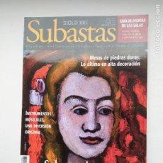Coleccionismo de Revistas y Periódicos: REVISTA SUBASTAS SIGLO XXI. Nº 65. AÑO 6. OCTUBRE 2005. MESAS DE PIEDRAS DURAS TDKC103. Lote 237587360