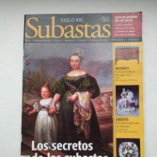 Coleccionismo de Revistas y Periódicos: REVISTA SUBASTAS SIGLO XXI. Nº 1. AÑO 1. DICIEMBRE 1999. EL SECRETO DE LAS SUBASTAS. TDKC103. Lote 237587455