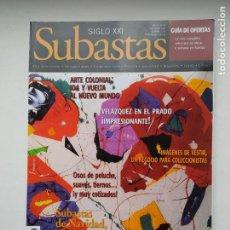 Coleccionismo de Revistas y Periódicos: REVISTA SUBASTAS SIGLO XXI. Nº 89. AÑO 9. DICIEMBRE 2007. VELAZQUEZ EN EL PRADO. TDKC103. Lote 237588120