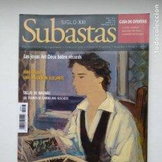 Coleccionismo de Revistas y Periódicos: REVISTA SUBASTAS SIGLO XXI. Nº 93. AÑO 9. ABRIL 2008. JOYAS ART DECO. TDKC103. Lote 237588365