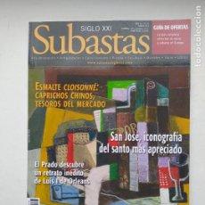 Coleccionismo de Revistas y Periódicos: REVISTA SUBASTAS SIGLO XXI. Nº 147. AÑO 14. MARZO 2013. ESMALTE CLOISONNE. TDKC103. Lote 237588640