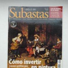Coleccionismo de Revistas y Periódicos: REVISTA SUBASTAS SIGLO XXI. Nº 2. AÑO 1. ENERO 2000. COMO INVERTIR EN PINTURA. TDKC103. Lote 237589270
