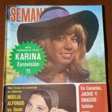 Coleccionismo de Revistas y Periódicos: REVISTA SEMANA 1971. N° 1625. EUROVISIÓN KARINA. CAPITULO LIX LA EMPERATRIZ EUGENIA.. Lote 237645340