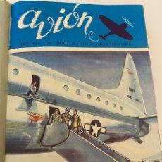 Coleccionismo de Revistas y Periódicos: LOTE DE 11 REVISTAS DE AVIÓN DEL 1947. Lote 237869400