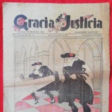 Coleccionismo de Revistas y Periódicos: GRACIA Y JUSTICIA Nº 12 - 1931 - ÓRGANO EXTREMISTA DEL HUMORISMO NACIONAL - (1ER AÑO 2ª REPUBLICA ). Lote 237971730