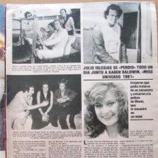 Collectionnisme de Revues et Journaux: RECORTE REVISTA SEMANA N.º 2299 1984 JULIO IGLESIAS, KAREN BALDWIN, MISS UNIVERSO 1981. Lote 238084620