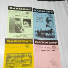 Coleccionismo de Revistas y Periódicos: SARMENT BALSARENY 1986. Lote 238116800