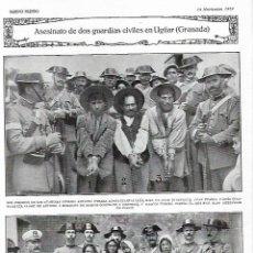 Coleccionismo de Revistas y Periódicos: 1919 ASESINATO GUARDIA CIVIL UGIJAR CUPLE PASTORA IMPERIO INSTITUTO AGRICOLA ALFONSO PRINCIPE MONACO. Lote 238119370