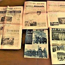 Coleccionismo de Revistas y Periódicos: LOTE 5 PERIÓDICOS DIFERENTES TEMA MARRUECOS INDEPENDIENTE BAJO MOHAMED V 2,3 Y 4 DE ABRIL DE 1956. Lote 239414310