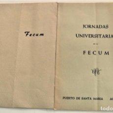 Coleccionismo de Revistas y Periódicos: FECUM Nº 8 Y 9 - BOLETÍN INFORMATIVO NACIONAL FEDERACIÓN ESPAÑOLA CC. MM. UNIVERSITARIAS 1955. Lote 239430200