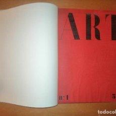 Coleccionismo de Revistas y Periódicos: ART , PUBLICACIÓ DE LA JUNTA MUNICIPAL D'EXPOSICIONS D'ART. DOS TOMOS, 20 REVISTAS. 1933-1935. Lote 239510300