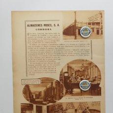 Coleccionismo de Revistas y Periódicos: 1933. CÓRDOBA. PUBLICIDAD. ALMACENES ROSES, CASA VIDAURRETA MAQUINARIA AGRICOLA E INDUSTRIAL. Lote 239718970