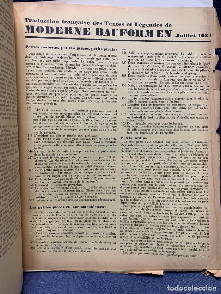 Coleccionismo de Revistas y Periódicos: MODERNE BAUFORMEN ARTE ESPACIAL ARQUITECTURA REVISTA AÑO XXXIII NUMERO 7 1934 JULIUS HOFFMANN 30X24C - Foto 2 - 239822545