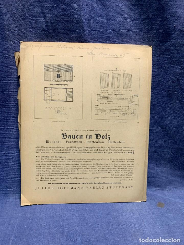 Coleccionismo de Revistas y Periódicos: MODERNE BAUFORMEN ARTE ESPACIAL ARQUITECTURA REVISTA AÑO XXXIII NUMERO 7 1934 JULIUS HOFFMANN 30X24C - Foto 4 - 239822545