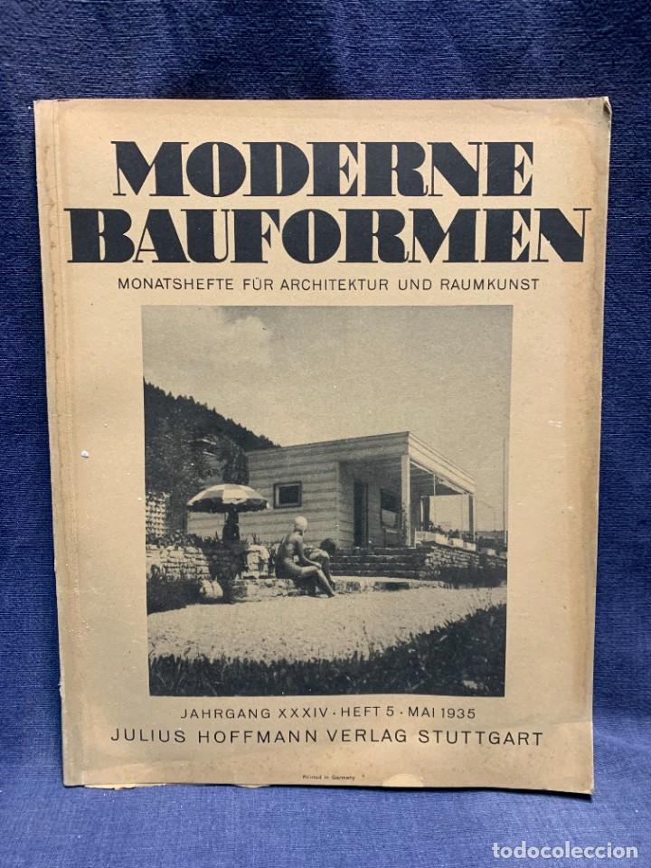 MODERNE BAUFORMEN ARTE ESPACIAL ARQUITECTURA REVISTA AÑO XXXIII NUMERO 5 1935 JULIUS HOFFMANN 30X24C (Coleccionismo - Revistas y Periódicos Antiguos (hasta 1.939))
