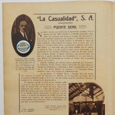 Coleccionismo de Revistas y Periódicos: 1933. PUBLICIDAD PUENTE GENIL. LA CASUALIDAD, S.A. MANUEL REINA NOGUÉS.FABRICA ACEITES DE ORUJO. Lote 239833445