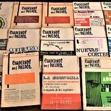 Coleccionismo de Revistas y Periódicos: LOTE 14 CUADERNOS PARA EL DIÁLOGO DEL AÑO 1966 AL AÑO 1969 (INCLUYE EL LOTE 4 EXTRAORDINARIOS). Lote 240059960