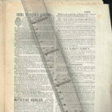Coleccionismo de Revistas y Periódicos: 1882 SUPLEMENTO DIETARIO GUÍA BARCELONA PUBLICIDAD, LIBROS, VIAJES, AVISOS, BOLSA MADRID, VARIOS,ETC. Lote 240157095